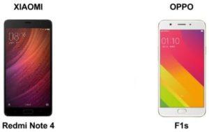 Perbandingan Xiaomi Redmi Note 4 Vs Oppo F1s Lengkap